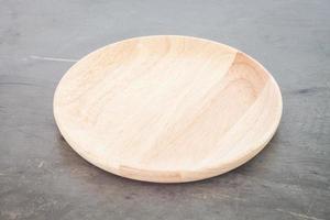 assiette ronde en bois