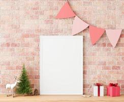 cadre d'arbre de Noël maquette, espace copie photo