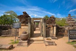 Ruines antiques à polonnaruwa, sri lanka
