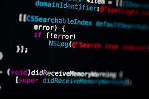 fond de technologie de code de programmation photo