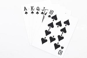 main de cartes à jouer