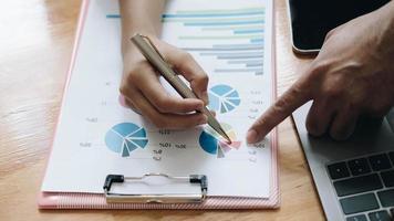 gros plan, de, réunion affaires financières