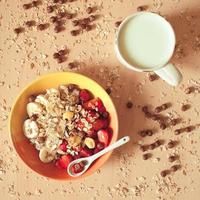 gros plan de granola
