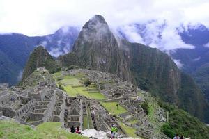 montagne de machu picchu photo