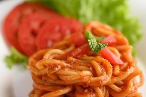 pâtes italiennes avec sauce