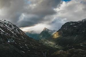 chaîne de montagnes et une vallée