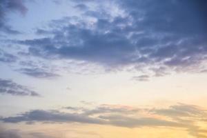 ciel au coucher du soleil photo