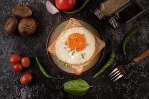 sandwich au jambon et aux œufs