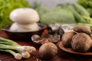 gros plan, de, champignons shiitake