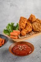 filets de poulet frits croustillants photo
