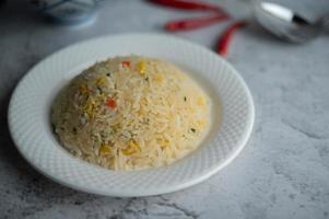 plat de riz frit