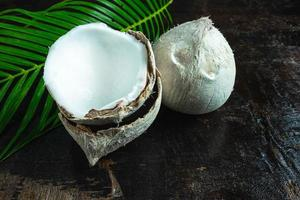gros plan, de, noix de coco