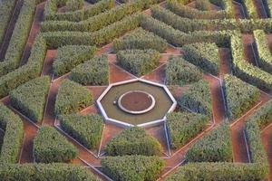 jardin triangulaire vert photo