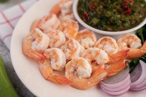 crevettes avec trempette