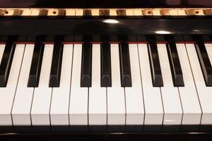 gros plan, de, touches piano