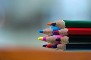 gros plan, de, crayons de couleur