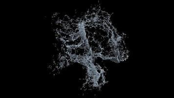 éclaboussure d'eau sur fond noir
