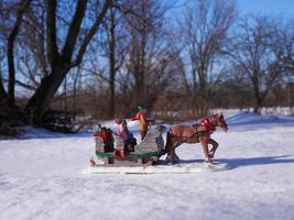 Ulverton, Québec, Canada. 24 janvier 2018 - décoration de Noël à l'extérieur photo