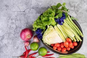 légumes fraîchement préparés