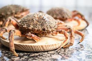 dalles de bois de crabes photo