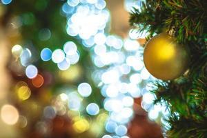 décorations et lumières de Noël photo