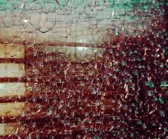 peinture abstraite marron et blanche photo