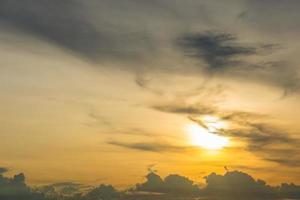le ciel au coucher du soleil