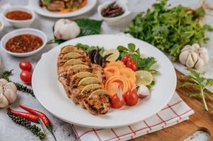 poulet gourmet grillé en tranches