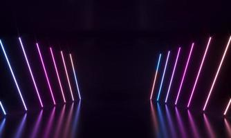 fond abstrait de formes néon photo