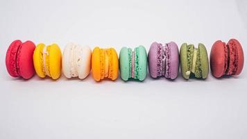rangée de macarons photo