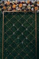 décoration murale florale