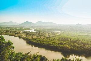 vue aérienne de la forêt tropicale topique