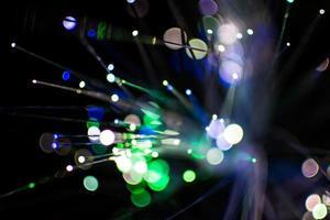 lumières bokeh vertes et bleues photo