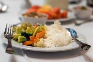 légumes sautés de restauration rapide.