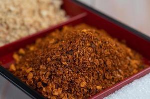 flocons de piment rouge frais photo