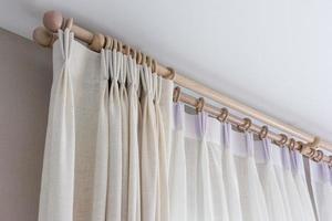 intérieur de rideaux blancs