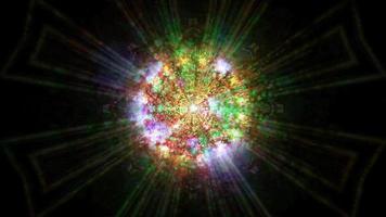 effets de lumières incandescentes sombres abstraites illustration 3d fond d'écran art design