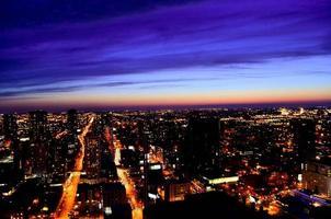 coucher de soleil à chicaco photo