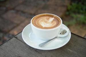 café d'art latte photo