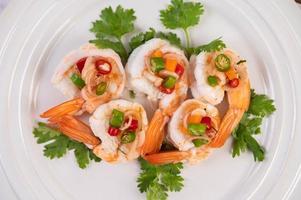 salade thaï épicée aux crevettes
