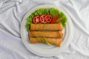rouleaux d'œufs thaï frits