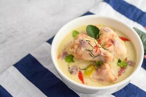 tom kha kai, soupe thaï à la noix de coco
