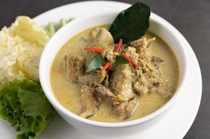 poulet au curry vert