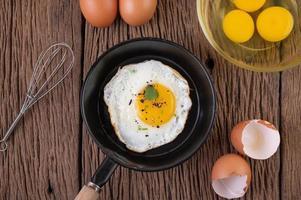 petit-déjeuner aux œufs au plat photo