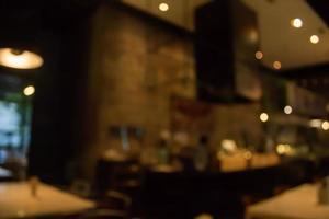 scène de restaurant floue