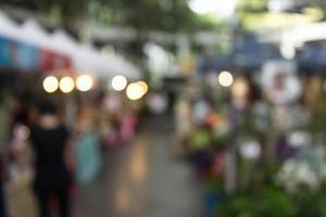 marché de rue floue photo