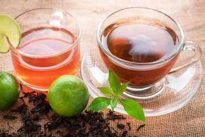tasse en verre de thé hto photo