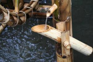 fontaine d'eau en bambou photo
