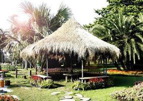 cabane dans un jardin