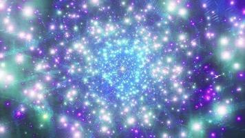 espace lumineux bleu galaxie particules 3d illustration fond papier peint conception artwork photo